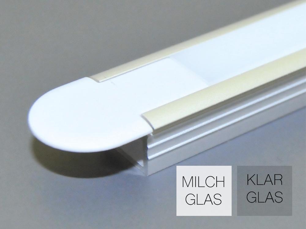 Aluminiumprofil AP-50-E für LED Bänder