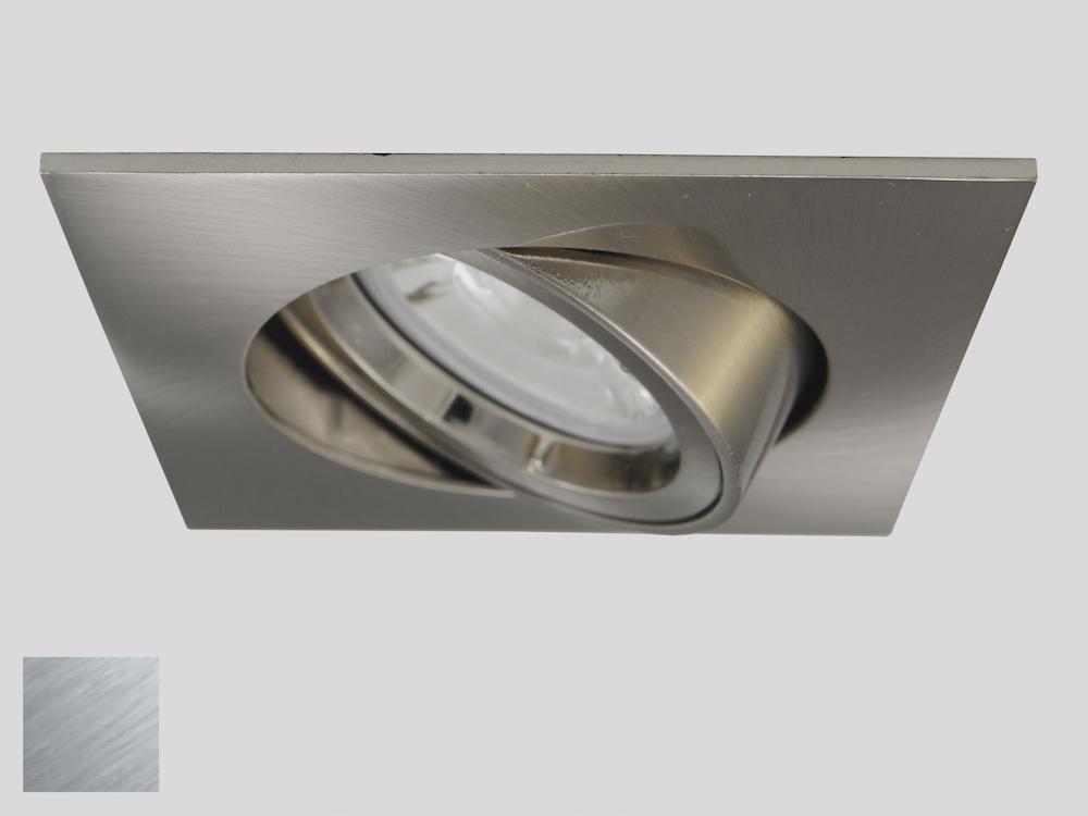 Einbaustrahler ZL-1634 Stahl gebürstet / ohne Leuchtmittel