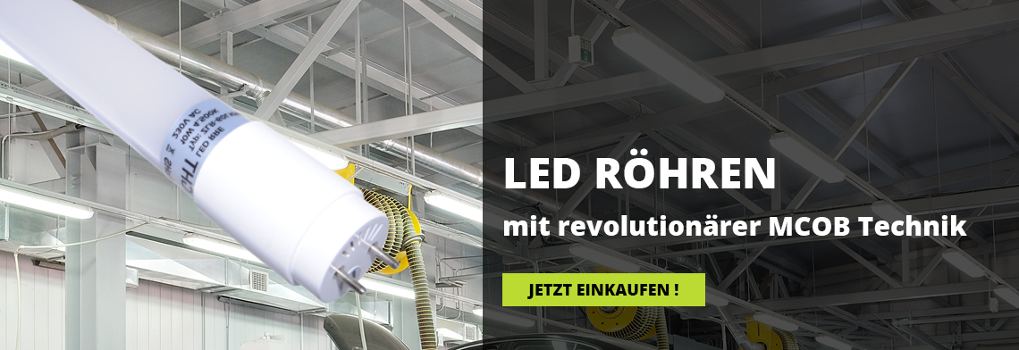 Led Röhren mit revolutionärer MCOB LED Technik