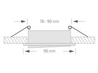 Einbaustrahler ZL1652 - Weiß / ohne Leuchtmittel